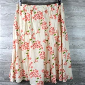 Floral Gathered Waist Orvis Full Skirt